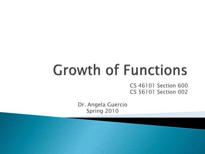 Growth of functions