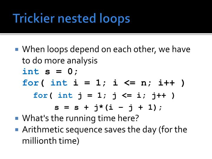 Trickier nested loops
