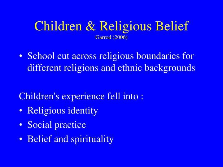 Children & Religious Belief