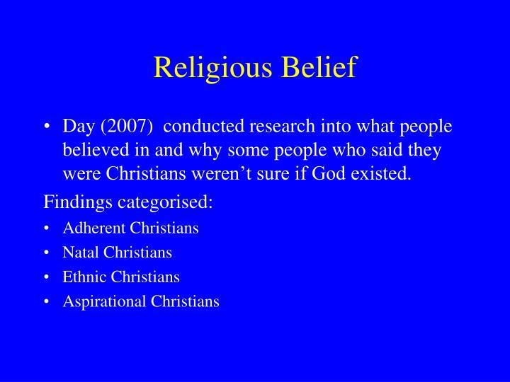 Religious Belief