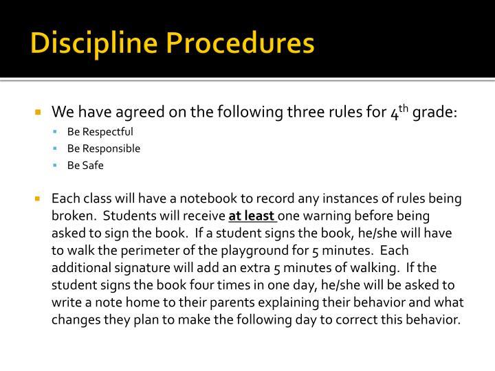 Discipline Procedures