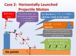 case 2 horizontally launched projectile motion