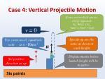 case 4 vertical projectile motion