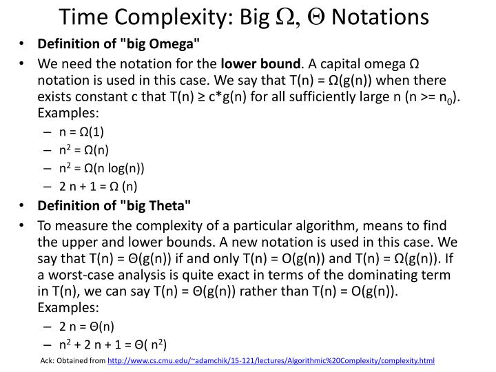 Time Complexity: Big