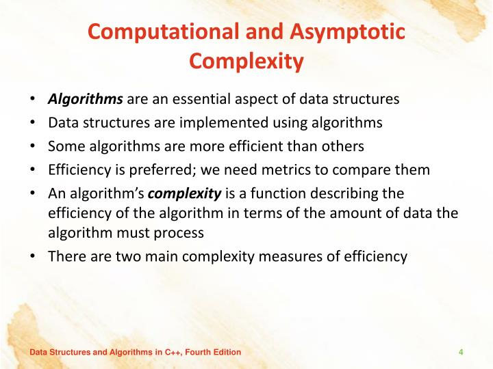 Computational and Asymptotic Complexity