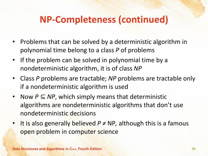 NP-Completeness (continued)
