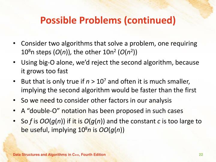 Possible Problems (continued)