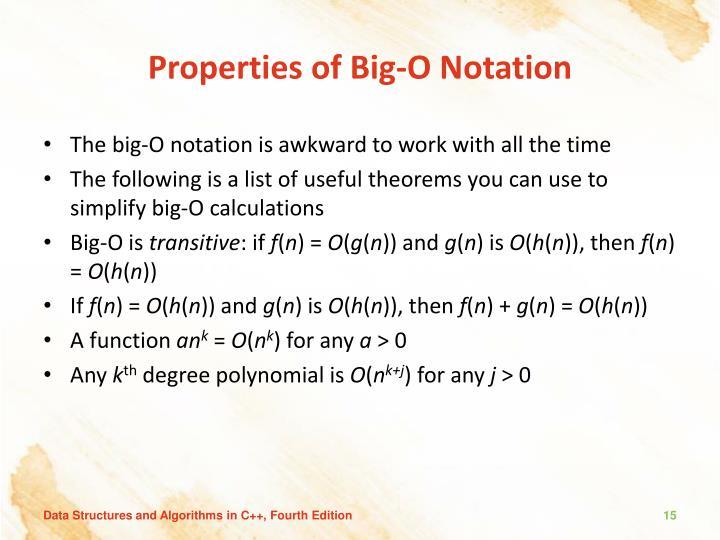 Properties of Big-O Notation