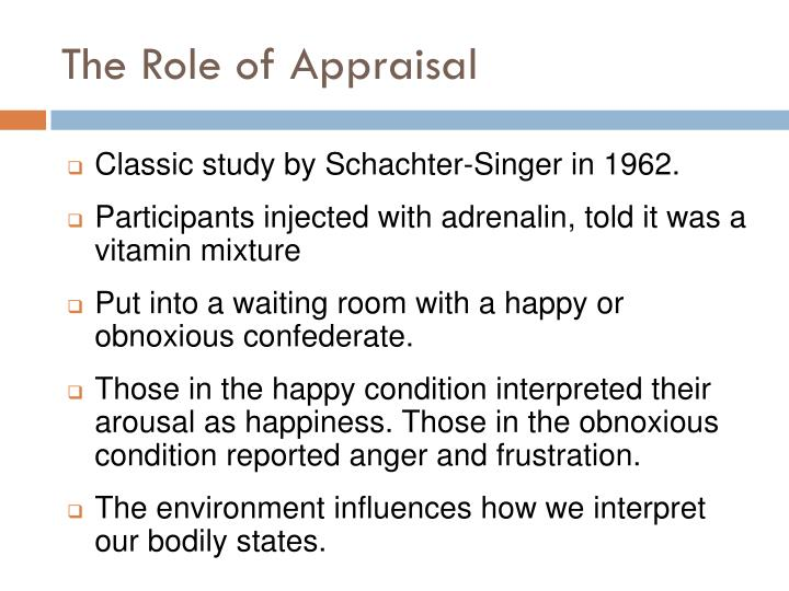 The Role of Appraisal