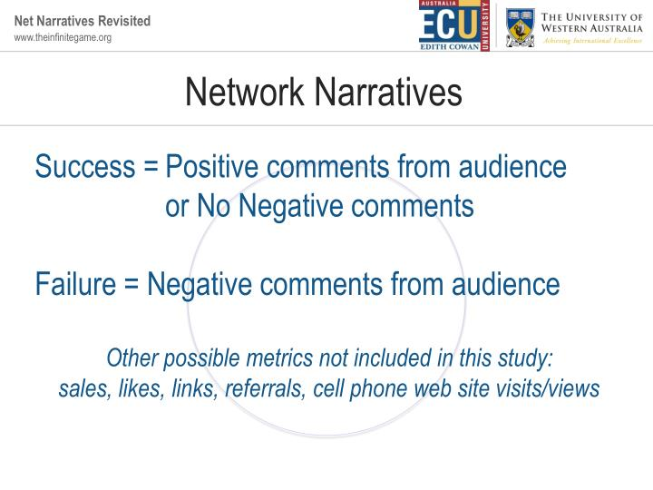 Network Narratives