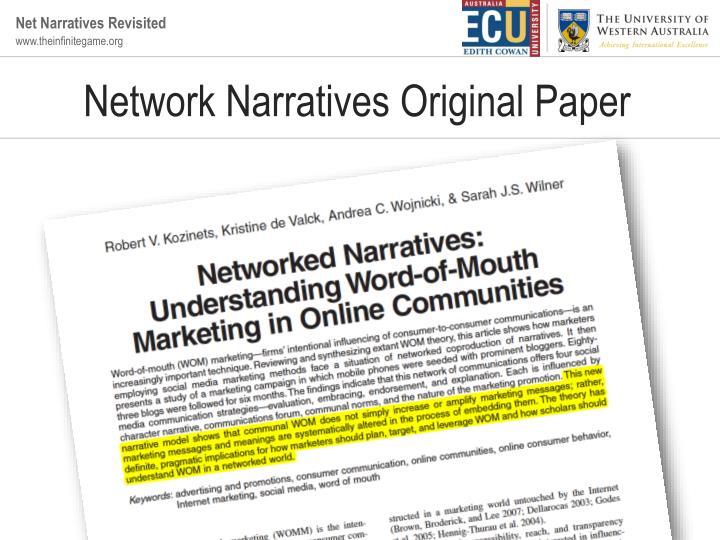 Network narratives original paper
