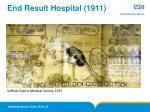 end result hospital 1911