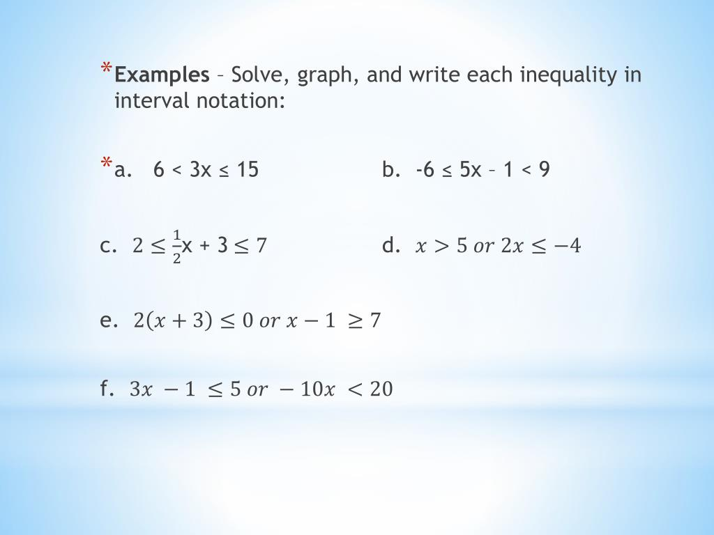 ppt  interval notation and inequalities powerpoint