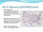 10 11 february 2010 nwfs event1