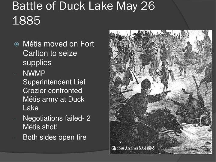 Battle of Duck Lake May 26 1885