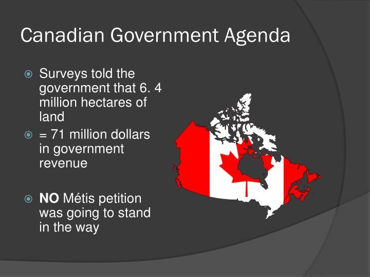 Canadian Government Agenda
