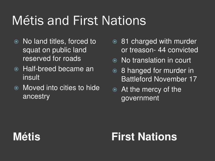Métis and First Nations