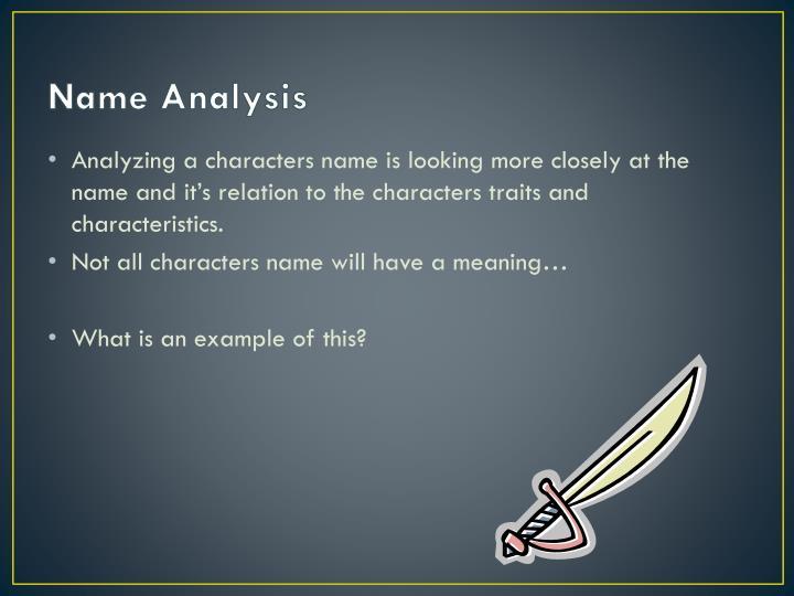 Name Analysis