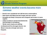 extreme weather events become more common