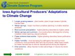 iowa agricultural producers adaptations to climate change