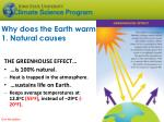why does the earth warm 1 natural causes