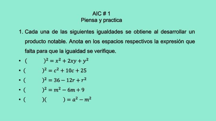 AIC # 1