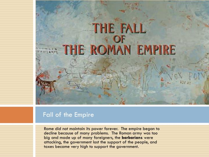 Fall of the Empire
