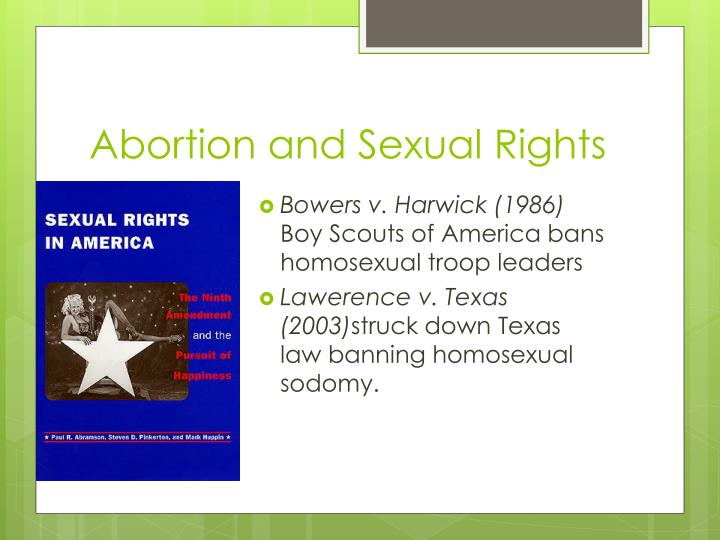 Abortion and Sexual Rights