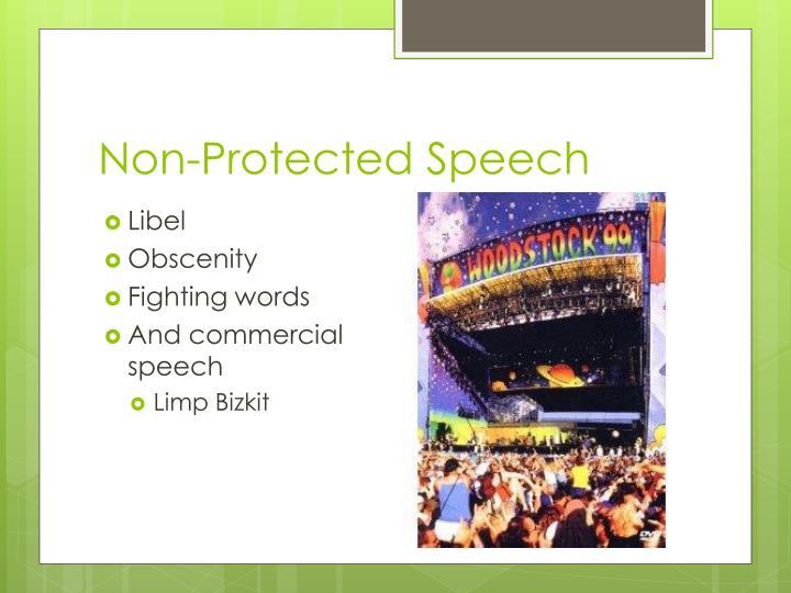 Non-Protected Speech