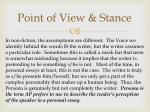 point of view stance1