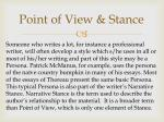 point of view stance2