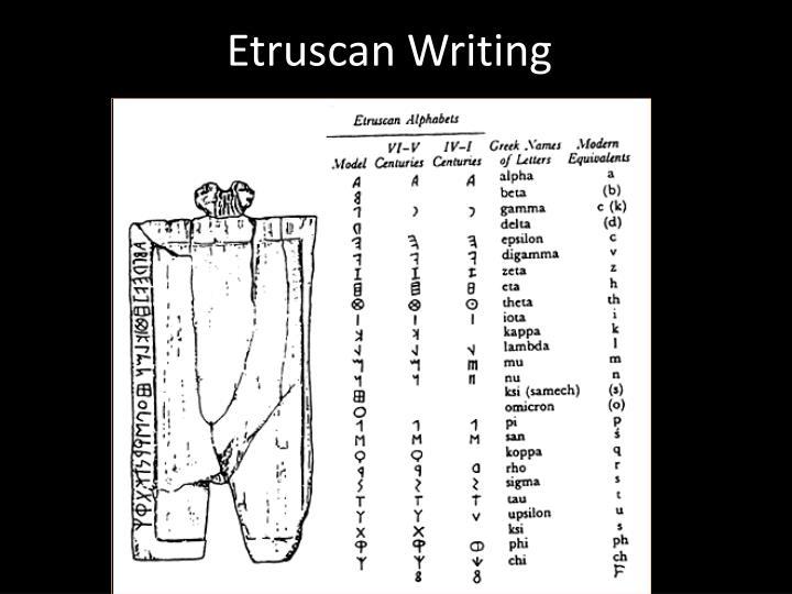Etruscan Writing