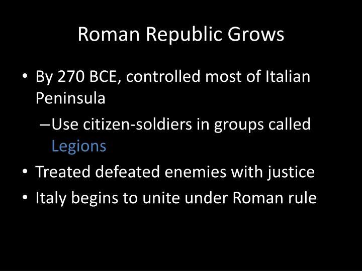 Roman Republic Grows