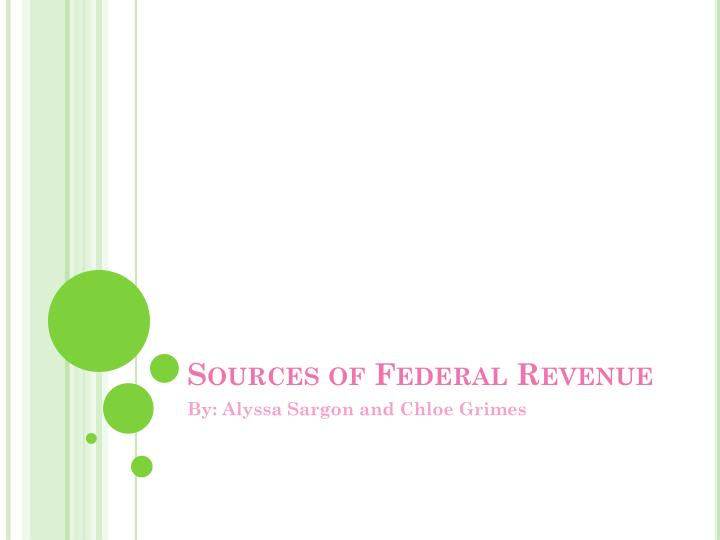 sources of federal revenue n.