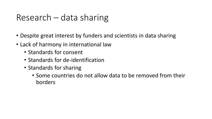 Research – data sharing