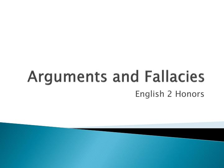 arguments and fallacies n.