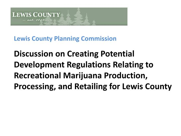 Lewis County Planning Commission