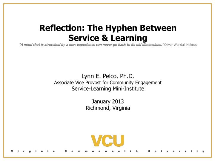 Reflection: The Hyphen Between