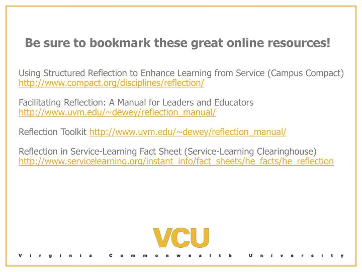 Be sure to bookmark these great online resources!