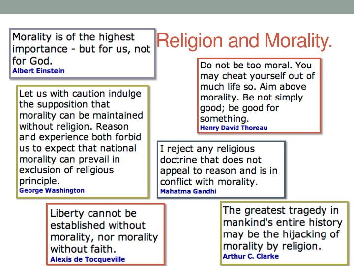Religion and Morality.