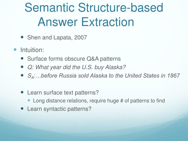 Semantic Structure-based
