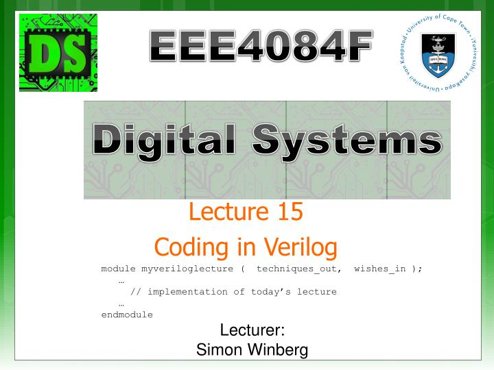 lecture 15 coding in verilog n.