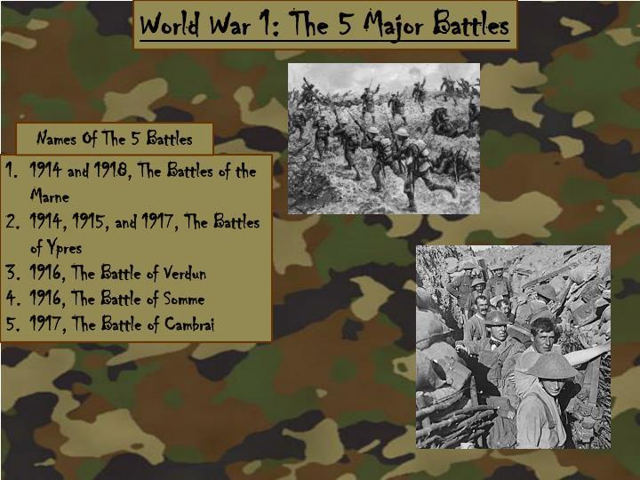 World War 1: The 5
