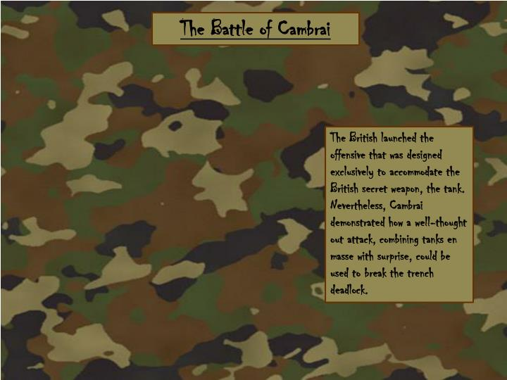 The Battle of Cambrai