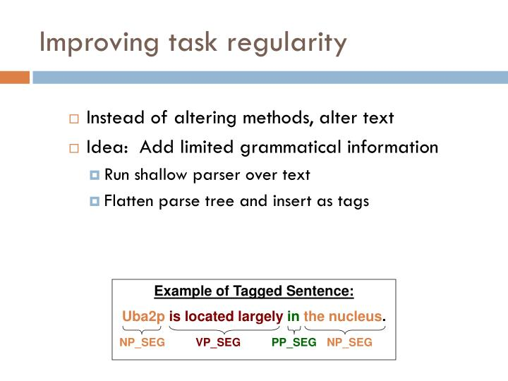 Example of Tagged Sentence: