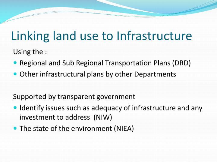 Linking land use to