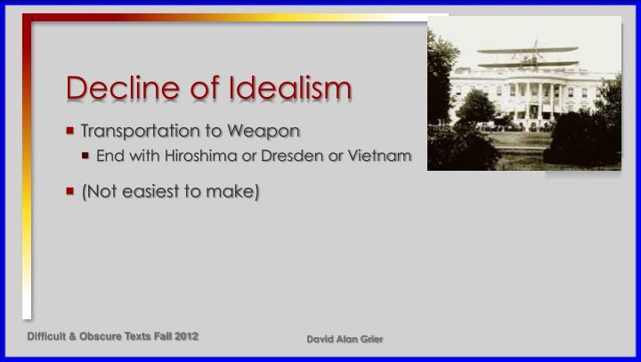 Decline of Idealism