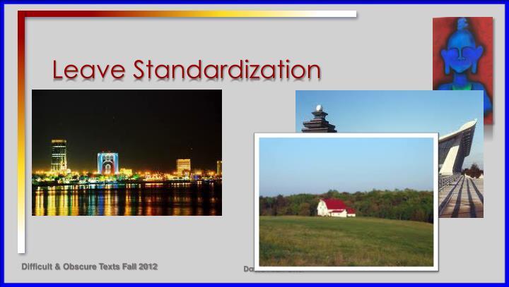 Leave Standardization