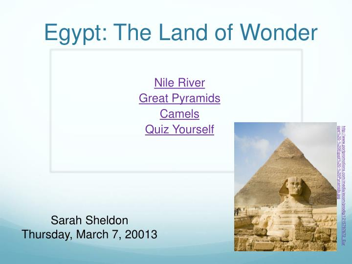 egypt the land of wonder n.