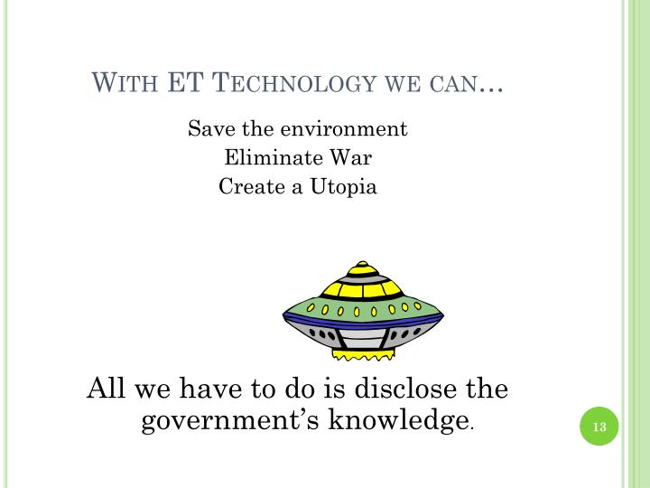 With ET Technology we can…
